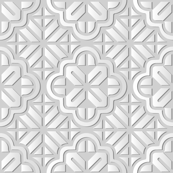 White paper art curve cross geometry frame line flower,  stylish decoration pattern background for web banner greeting card