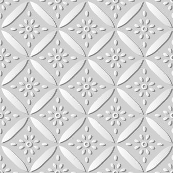 ホワイトペーパーアートカーブクロスラウンドフレーム花、ウェブバナーグリーティングカードのスタイリッシュな装飾パターンの背景