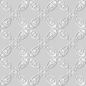 White paper art curve round cross frame vine flower,  stylish decoration pattern background for web banner greeting card
