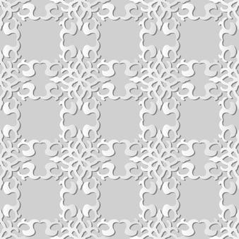 Белая бумага искусство кривая спираль крест рамка герб, стильный узор украшения фон для веб-баннера поздравительной открытки