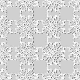 White paper art curve spiral cross frame crest,  stylish decoration pattern background for web banner greeting card