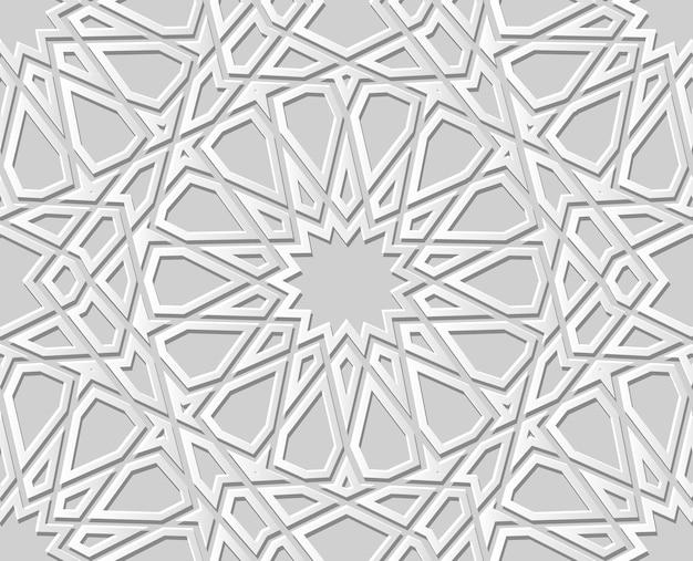 Белая бумага искусство геометрия крест узор бесшовный фон, стильный узор украшения фон для веб-баннера поздравительных открыток