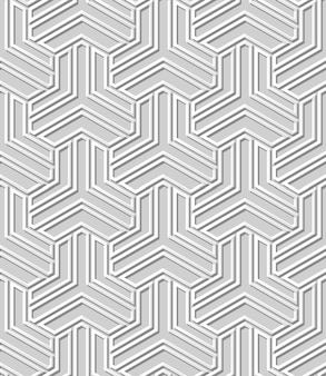 White paper art  geometry cross pattern seamless background,  stylish decoration pattern background for web banner greeting card