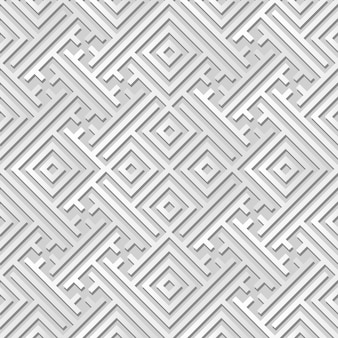 White paper art geometry spiral check cross tracery,  stylish decoration pattern background for web banner greeting card