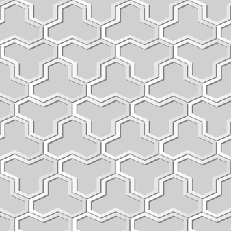 White paper art polygon geometry cross frame,  stylish decoration pattern background for web banner greeting card