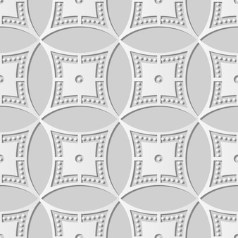 White paper art round circle cross frame dot line,  stylish decoration pattern background for web banner greeting card