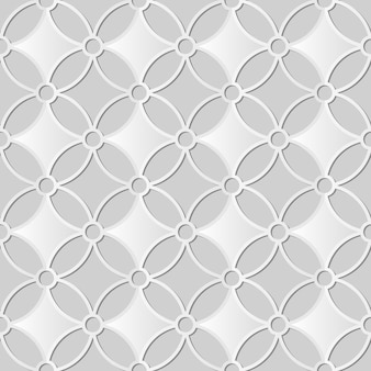 White paper art round cross curve flower frame,  stylish decoration pattern background for web banner greeting card