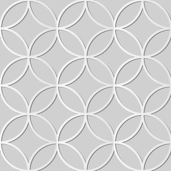 White paper art round cross frame geometry,  stylish decoration pattern background for web banner greeting card