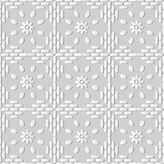 White paper art round cross frame line flower,  stylish decoration pattern background for web banner greeting card