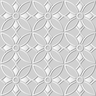 White paper art round curve cross frame line flower,  stylish decoration pattern background for web banner greeting card