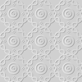 White paper art round dot curve cross frame line,  stylish decoration pattern background for web banner greeting card