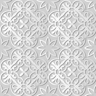 Белая бумага искусство круглая спираль крест рамка цветок, стильный узор украшения фон для веб-баннера поздравительной открытки