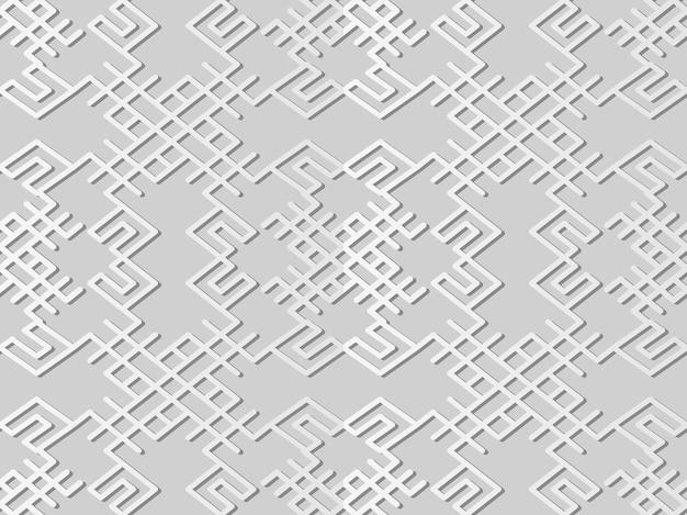 Белая бумага искусство спираль крест кадр многоугольник рамка линия, стильный узор украшения фон для веб-баннера поздравительной открытки