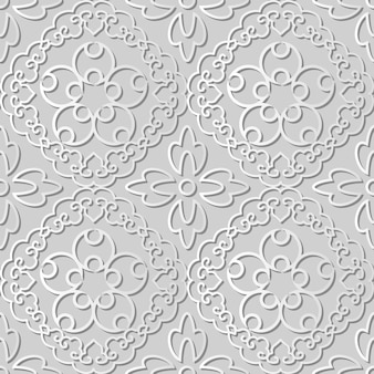White paper art spiral cross frame vine flower,  stylish decoration pattern background for web banner greeting card