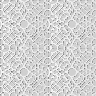 White paper art spiral curve cross frame flower lace,  stylish decoration pattern background for web banner greeting card