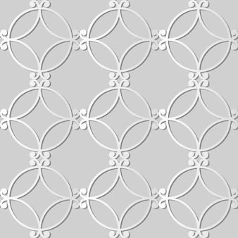 White paper art spiral round curve cross frame,  stylish decoration pattern background for web banner greeting card
