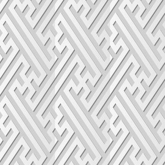 Белая бумага искусство спираль вихрь крест ажурная рамка линия, стильный узор украшения фон для веб-баннера поздравительной открытки