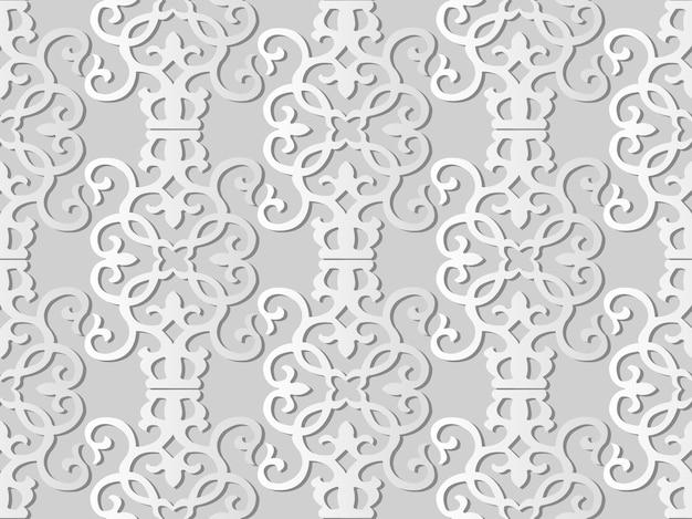 Белая бумага искусство спираль вихрь кривая крест рамка лоза, стильный узор украшения фон для веб-баннера поздравительной открытки