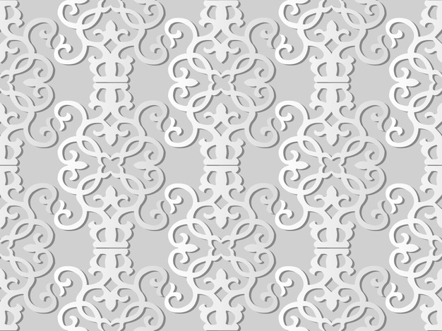 White paper art spiral vortex curve cross frame vine,  stylish decoration pattern background for web banner greeting card