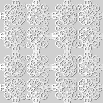Белая бумага искусство спираль вихрь кривая крест квадратная рамка, стильный узор украшения фон для веб-баннера поздравительной открытки