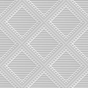 White paper art square check cross frame line,  stylish decoration pattern background for web banner greeting card