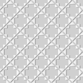 ホワイトペーパーアートトライアングルチェックダイヤモンドクロスフレーム、ウェブバナーグリーティングカードのスタイリッシュな装飾パターンの背景