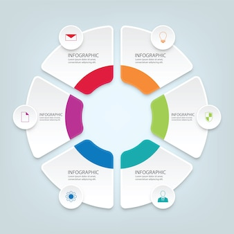 White paper business infographic elements