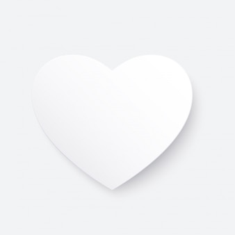 White paper cut love heart for valentine's day or any other love invitation cards