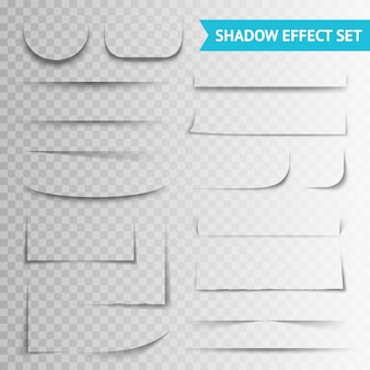 White paper cuts shadow shadow set