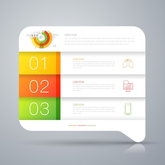 White paper infographic elements for the presentation
