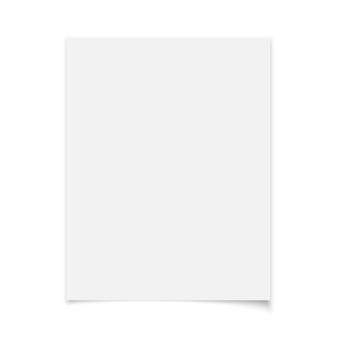 白い背景のホワイトペーパー。図。