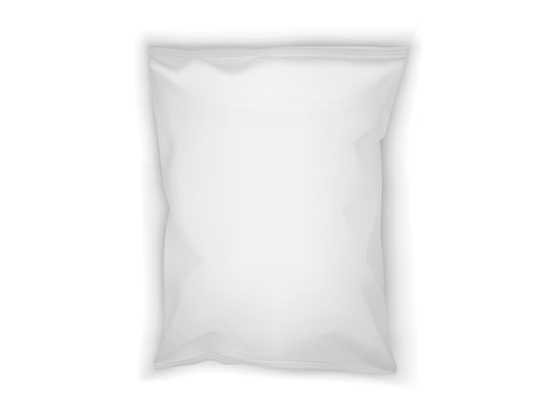 White paper packaging isolated