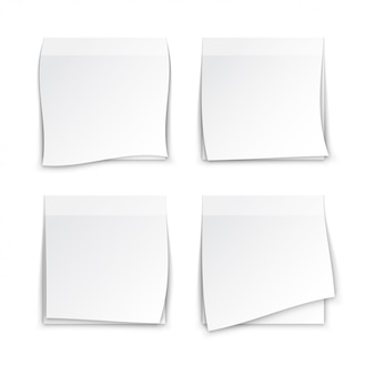 White paper post it notes
