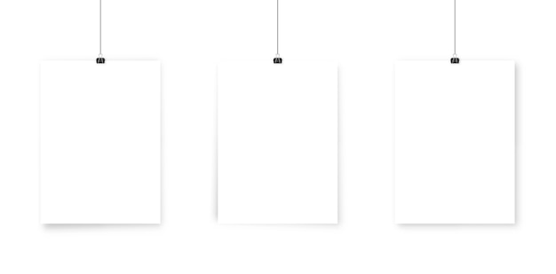 Белая книга постер макет.