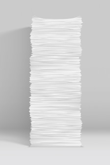 White paper stack on grey