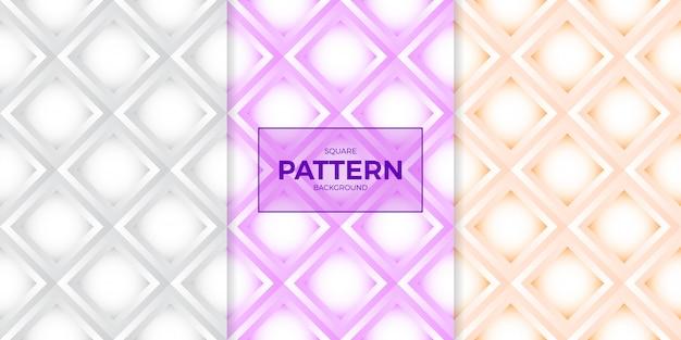 White paper style polygon polygon seamless pattern