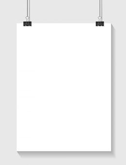 Шаблон белой бумаги с местом для вашего текстового клипа