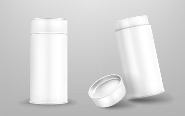 White paper tubes