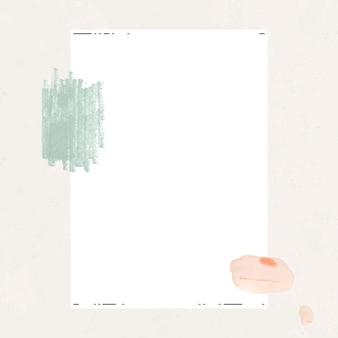 White paper with brushstroke