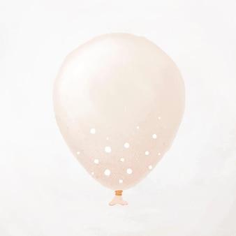 Vettore di elemento palloncino partito bianco con puntini bianchi