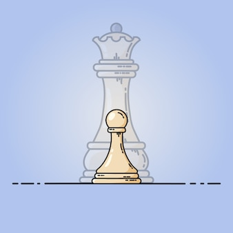 White pawn becomes queen