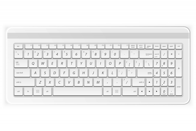 White pc keyboard