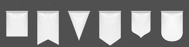 흰색 페넌트 깃발