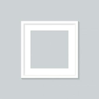 White photo frame isolated