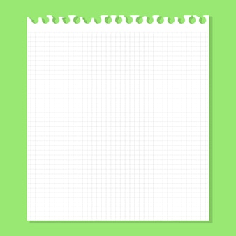 緑の上の白い紙。ベクトルイラスト