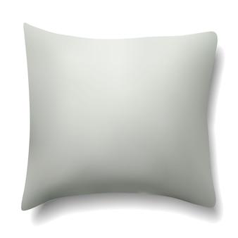 흰색 베개입니다. 현실적인 빈 템플릿입니다.