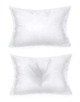Белая подушка, векторный объект