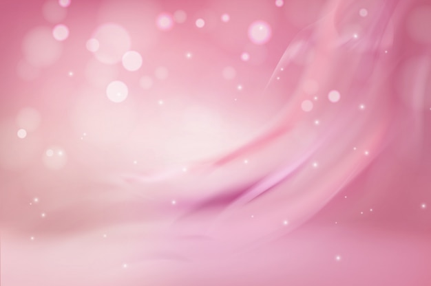White and pink gradient soft abstract background scene realistic  illustration concept. light flowing lines up and bubbles. base for advertising, poster, banner, magazine, brochure, web page