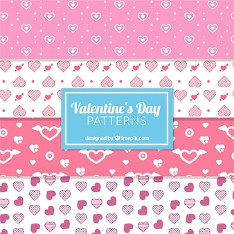 White and pink patterns for valentine's day