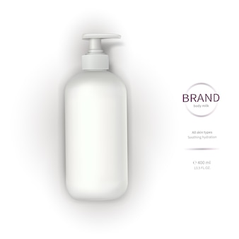 White plastic bottle with dispenser